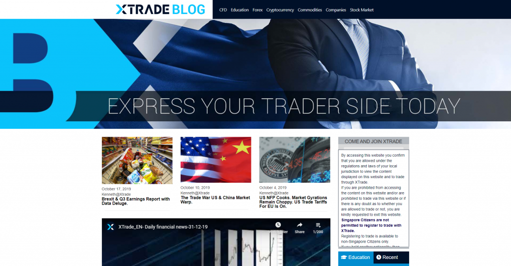 What can you trade with Xtrade?